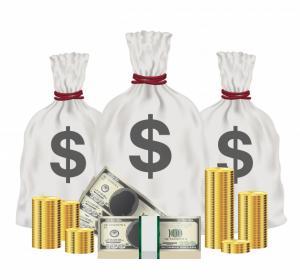 suuria rahapusseja ja dollareita